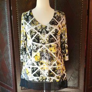 Style & Co Embellished V-Neck Tunic  1X
